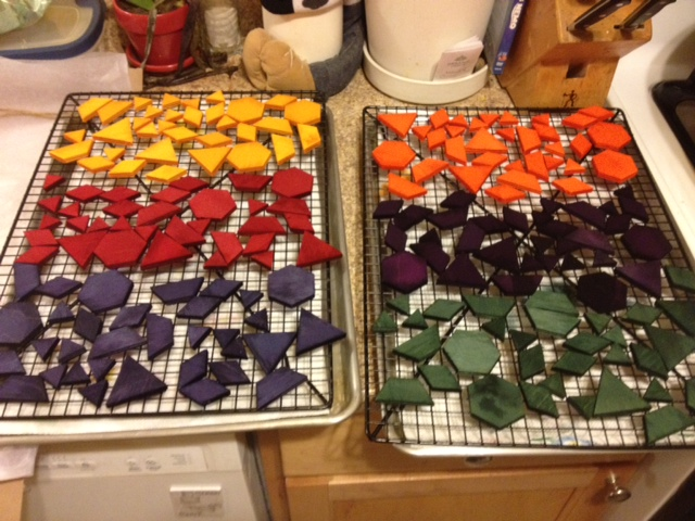 Preparation of the game pieces