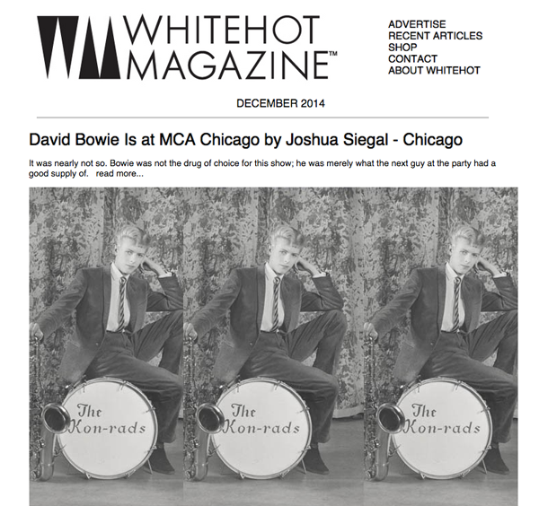 Whitehot Magazine feature